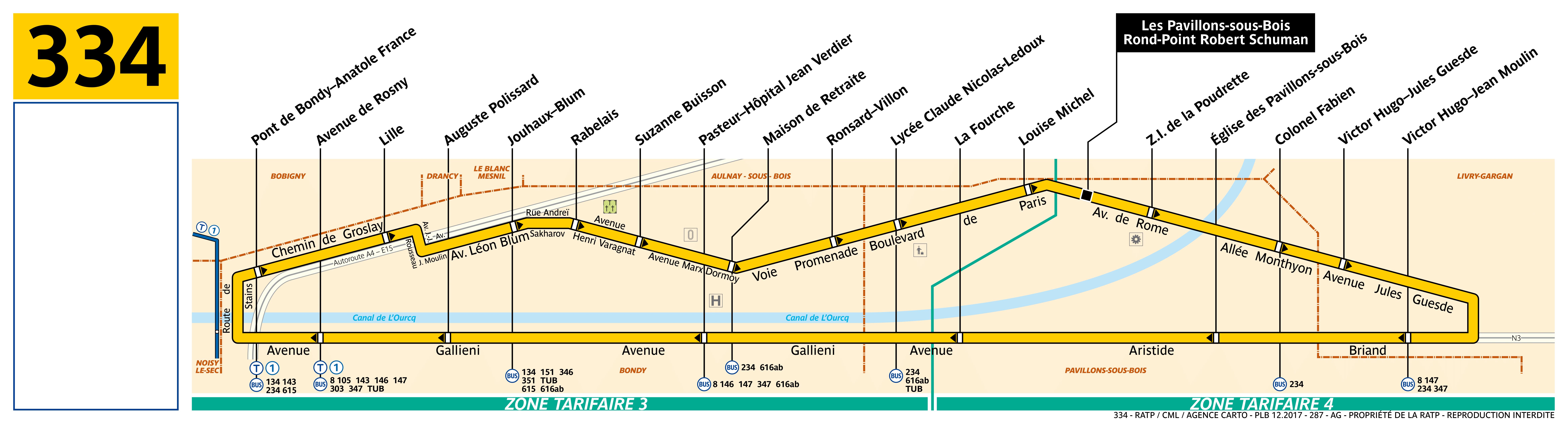 Bus Ratp : ligne 334 - horaires, plan et itinéraire